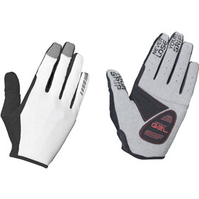 GripGrab Shark Padded Full Finger Gloves white